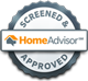 Homeadvisor screened and approved electrician